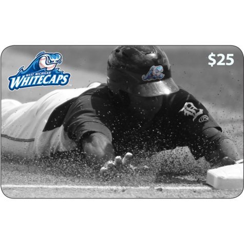 West Michigan Whitecaps $50 Value Gift Cards - 2 x $25