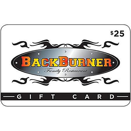EV BACKBURNER REST. $50 MP 2 X $25