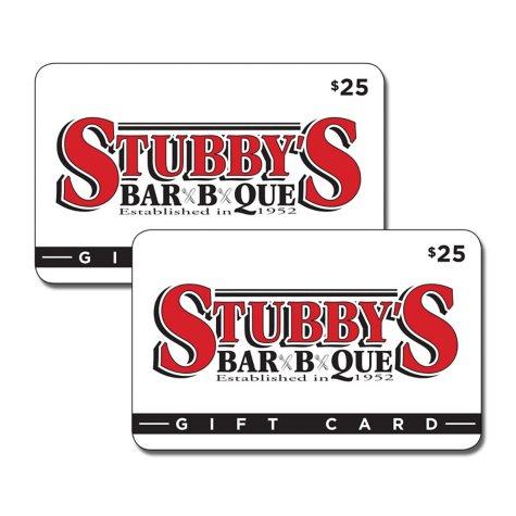 Stubby's BBQ Restaurant Gift Card - 2/$25