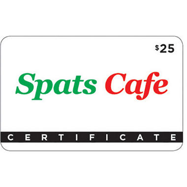Spats Cafe Gift Card - 2/$25
