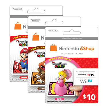 Nintendo Photos with Mario $10 eShop Gift Card – Various Characters