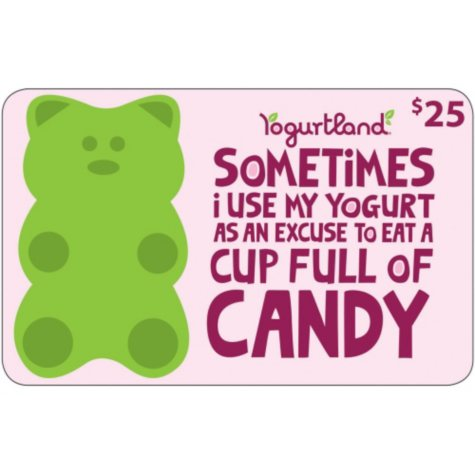 Yogurtland Gift Cards - 2 x $25