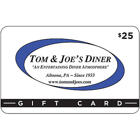 Tom & Joe's Diner - 2/$25