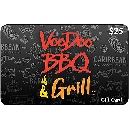 Voodoo BBQ & Grill $50 Value Gift Cards -  2 x $25