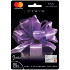 Vanilla Mastercard $50 Gift Card Purple Bow