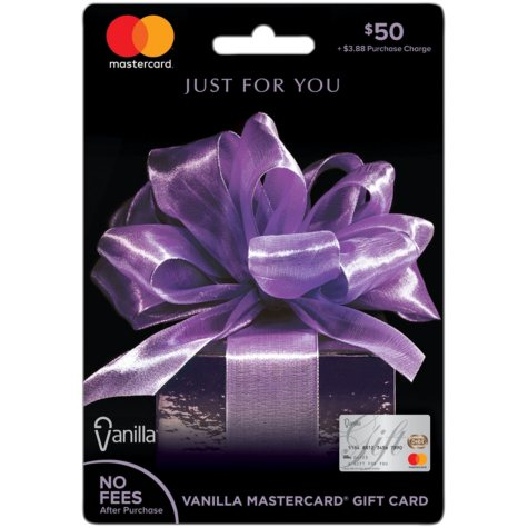 Vanilla® Mastercard® $50 Gift Card Purple Bow