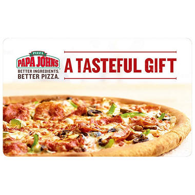 Papa John's $50 Value Gift Cards - 2 x $25