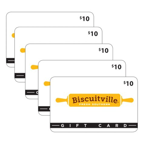Biscuitville Gift Cards - 5 x $10