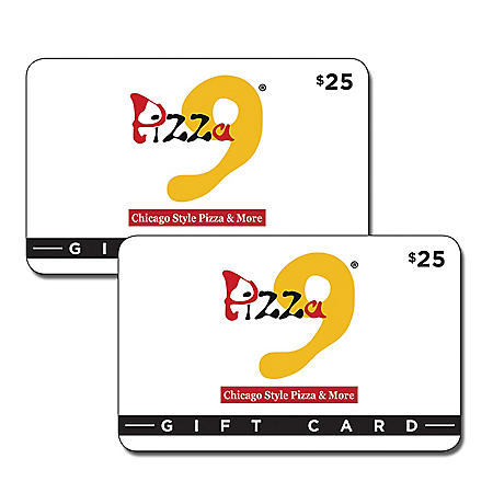 Pizza 9 (TX, NM) $50 Gift Cards - 2/$25