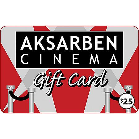 Aksarben Cinema $50 Value Gift Cards - 2 x $25