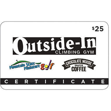 Outside-In Climbing Gym & Mountain Gift Card - 2 x $25