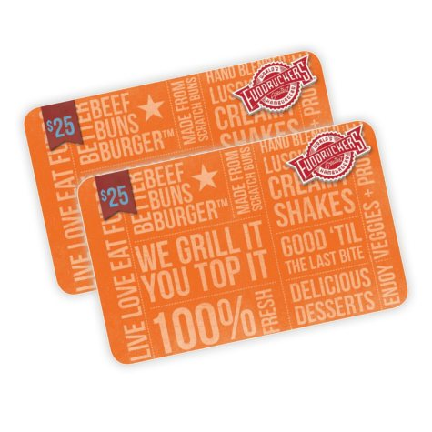 Fuddruckers $50 Value Gift Cards - 2 x $25