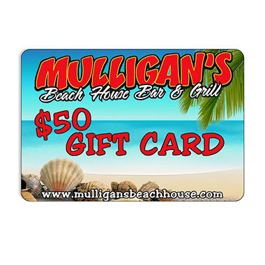 Mulligan's Beachhouse Bar and Grill - $50 Gift Card for $39.98