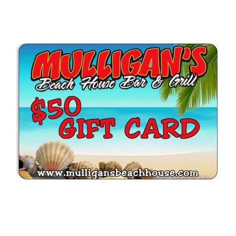 Mulligan's Beachhouse Bar and Grill $50 Gift Card