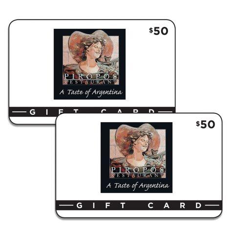 Piropo's Restaurant Gift Card - 2 x $50