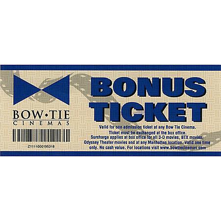 Bow Tie Cinemas - 2 Tickets ($21 Value)