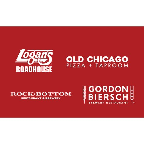 Rock Bottom, Chophouse, Old Chicago & Walnut Brewery $100 Value Gift Cards - 4 x $25