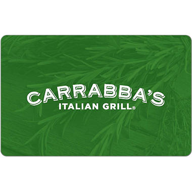 Carrabba\'s Italian Grill eGift Card - Various Amounts (Email ...