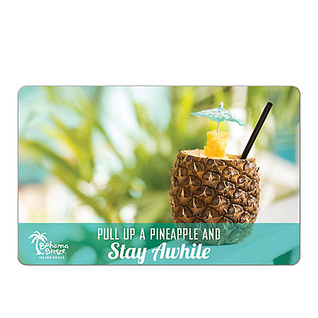 Bahama Breeze eGift Card - Various Amounts (Email Delivery)
