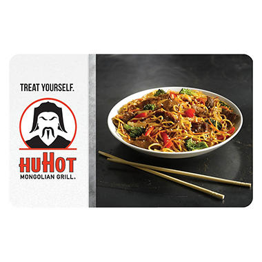 HuHot Mongolian Grill & BBQ  $50 Gift Card - 2/$25 for $39.98