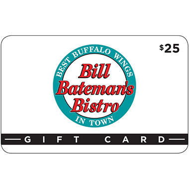 Bill Batemen's Bistro $50 Value Gift Cards - 2 x $25