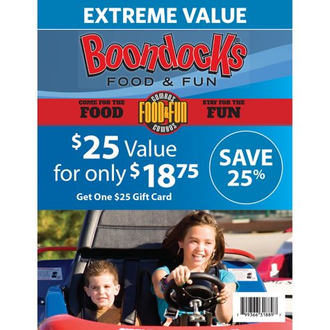 Boondocks Food and Fun $25 Gift Card