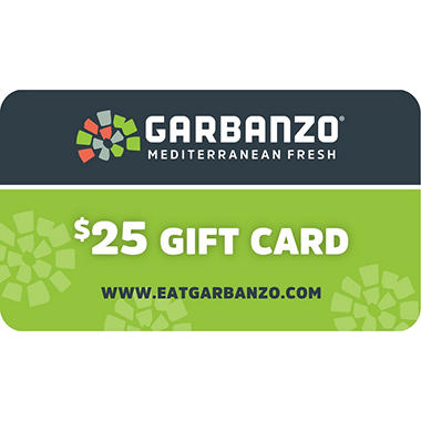 Garbanzo Mediterranean Grill (CO) $50 Value Gift Cards - 2 x $25