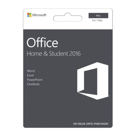 Microsoft Office Home & Student 2016 for Mac, 1 Mac