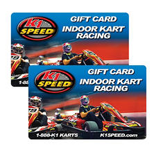 K1 Speed $50 Value Gifts Cards - 2 x $25