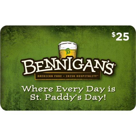 Bennigan's (Mount Pleasant) - 2 x $25