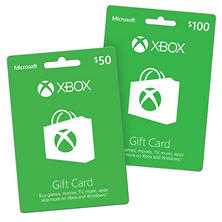 Xbox LIVE Various Values Gift Cards