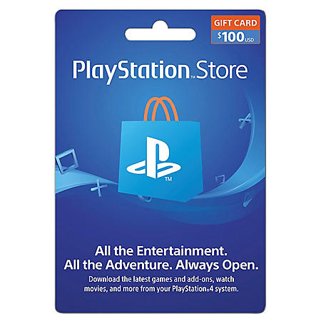 Playstation 4 $100 Gift Card