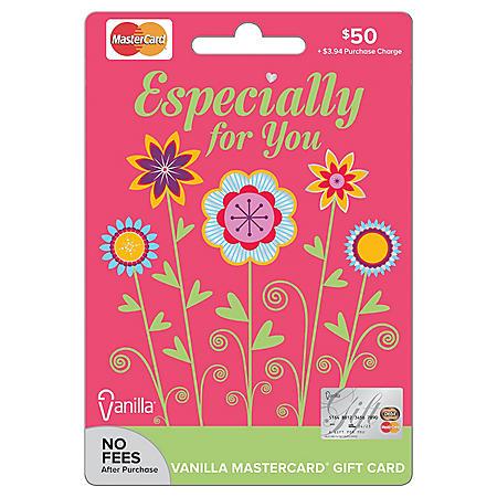 Vanilla® Mastercard® Spring Flowers $50 Gift Card