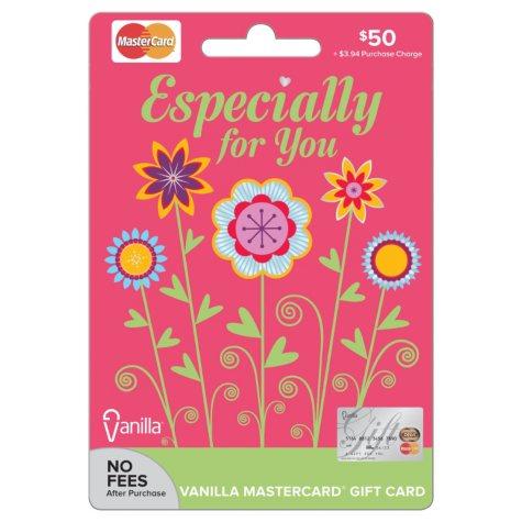 MasterCard Spring Gift Card - $50