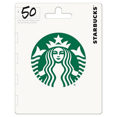Starbucks gift card 50 value sams club starbucks gift card 50 value negle Images