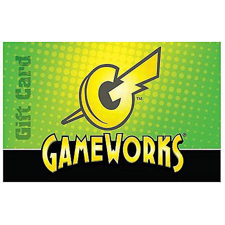 Gameworks $50 Gift Card - 1 x $50