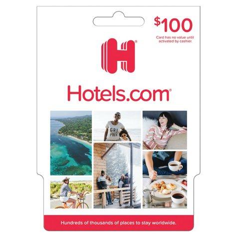Hotels.com - $100 Value