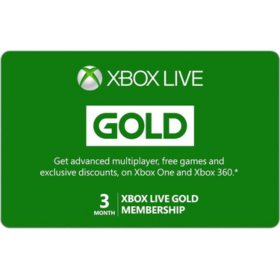 Xbox Live Gold Membership eGift Card - Various Amounts (Email Delivery)