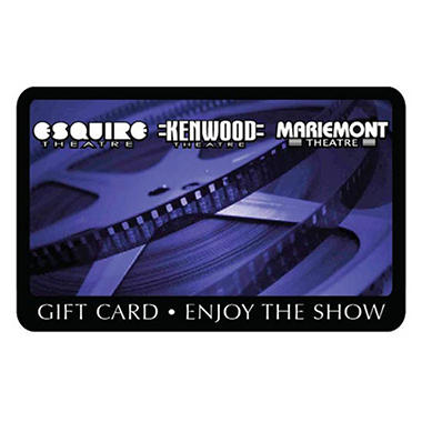 Esquire, Mariemont, and Kenwood Theatre $50 Gift Card - 2 x $25