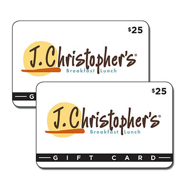 J. Christopher's $50 Value Gift Cards - 2 x $25