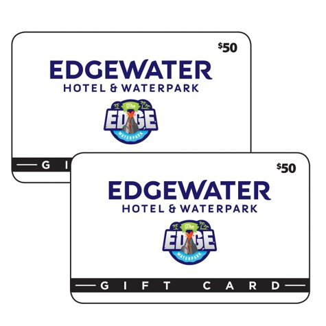 Edgewater Hotel & Waterpark $100 Value Gift Cards - 2 x $50