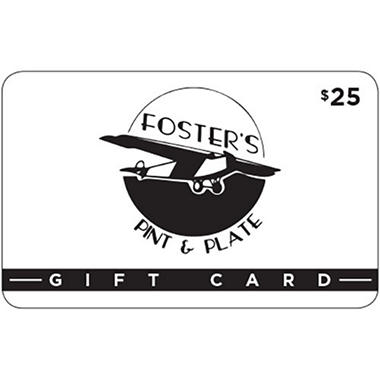 Foster's Pint and Plate $50 Multi-Pack - 2/$25 for $39.98