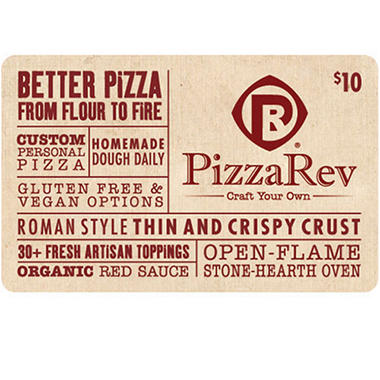 PizzaRev Gift Card - 5 x $10