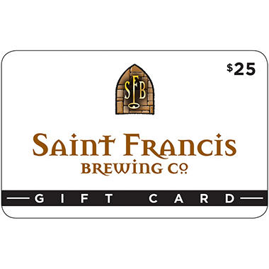 Saint Francis Brewery - 2 x $25