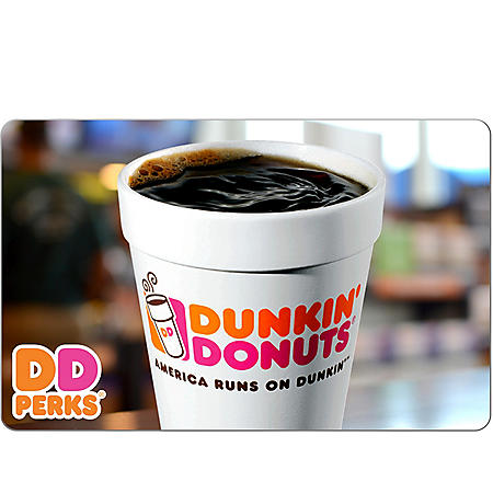 Dunkin' Donuts - Various eGift Amounts (Email Delivery)