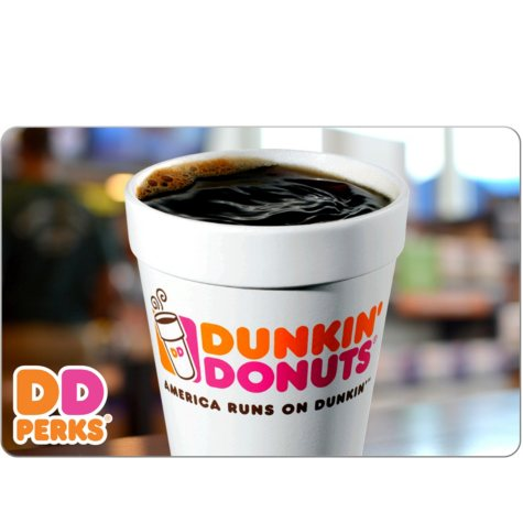 Dunkin' Donuts $25 eGift Card (Email Delivery)