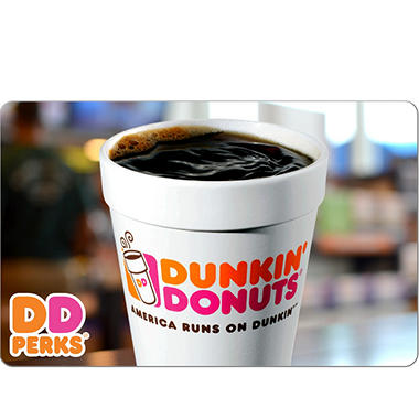 Dunkin' Donuts $50 eGift Card (Email Delivery)