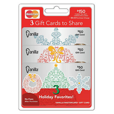 Vanilla MasterCard, $150 Multi-Pack - 3/$50 Gift Cards