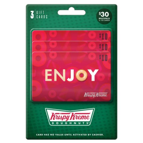 Krispy Kreme $30 Value Gift Cards - 3 x $10