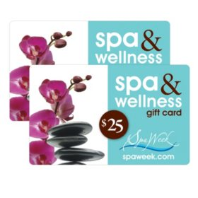 Spa Week $50 Value Gift Cards - 2 X $25